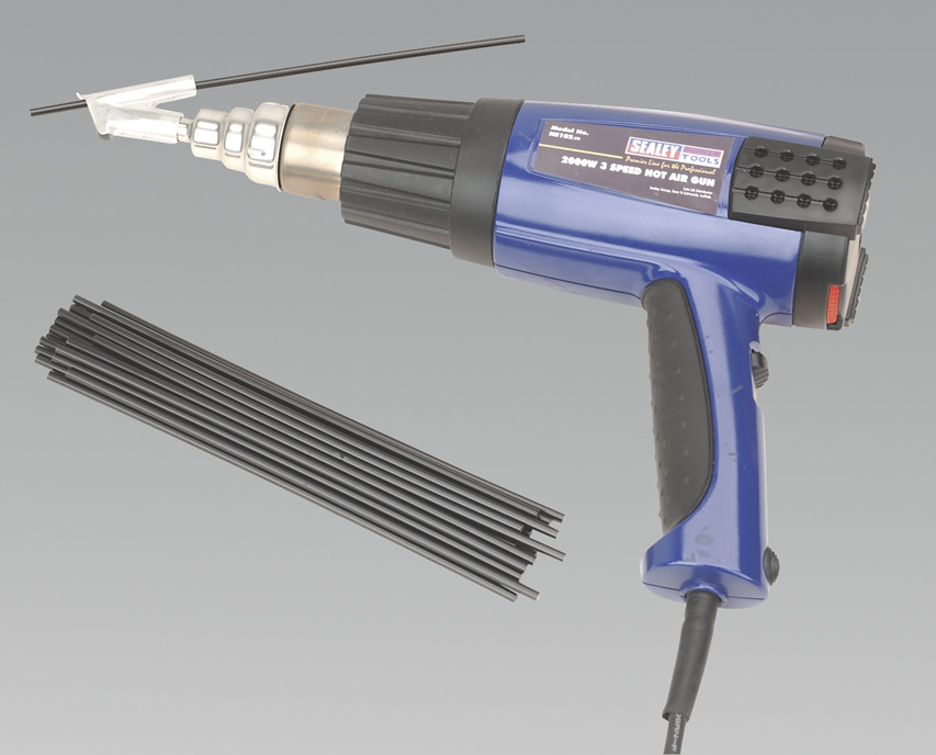 Sealey Hs102k Plastic Welding Kit Including Hs102 Hot Air Gun 5024209131834 Ebay