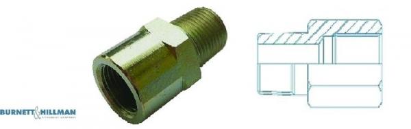 Burnett /& Hillman Metrisch M18 Männlich X M22 Stecker 1.5mm Pitch Adapter 00444