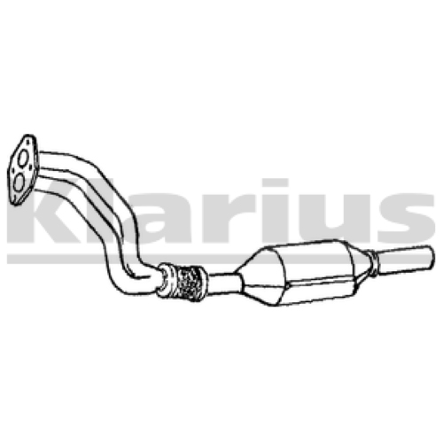 OE Quality Klarius Replacement Cat Catalytic Converter Exhaust Type Approved