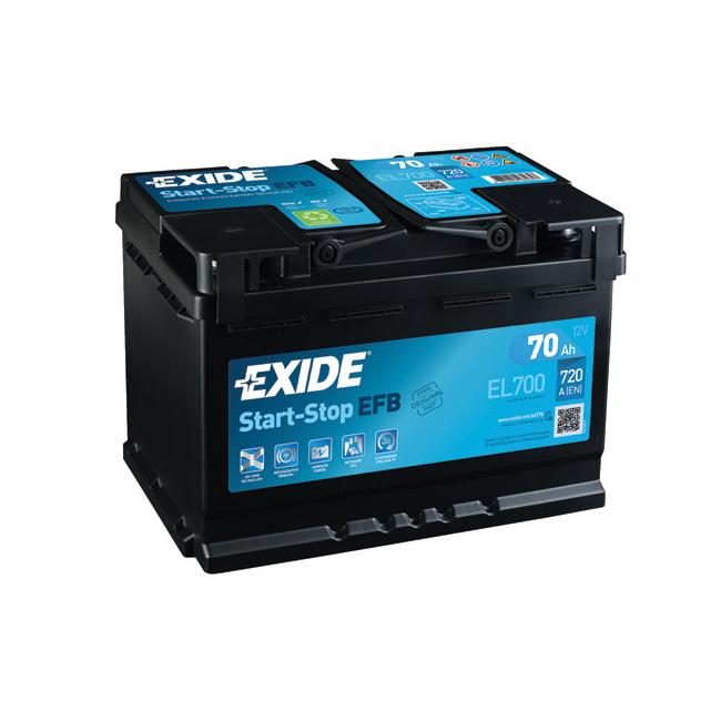 1x Exide Stop Start 70Ah 720CCA 12v 067 ECM Car Battery 4