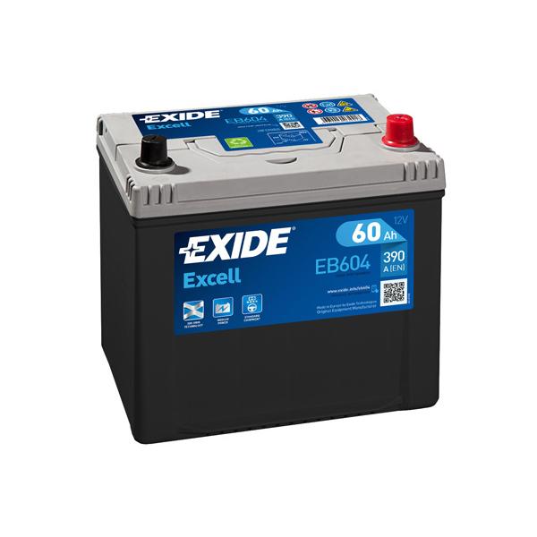 1x Exide Excell 60Ah 390CCA 12v Type 005 Car Battery 3