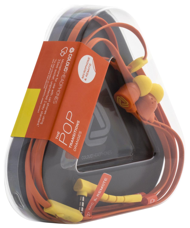 Coloud The Pop Stereo In Ear Headphones Earphones Pop Transition Orange