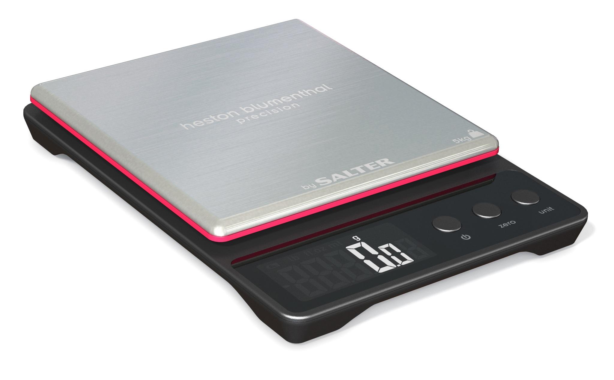 Sentinel Salter 5kg Heston Blumenthal Precision Electronic Digital Kitchen Scales Black