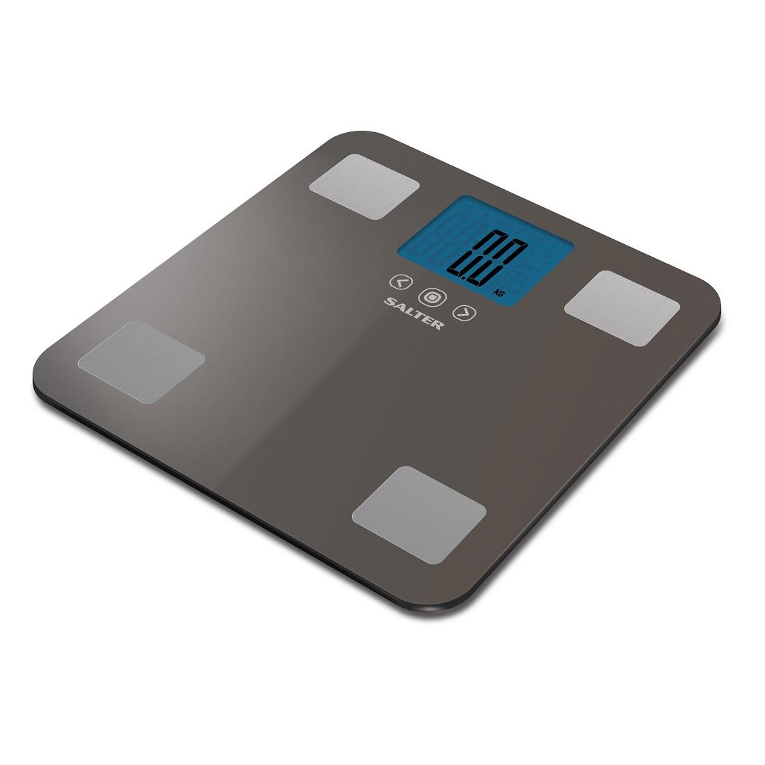 Salter 250kg Max Analyser Electronic Digital Bathroom Scales Silver 9179 SV3R