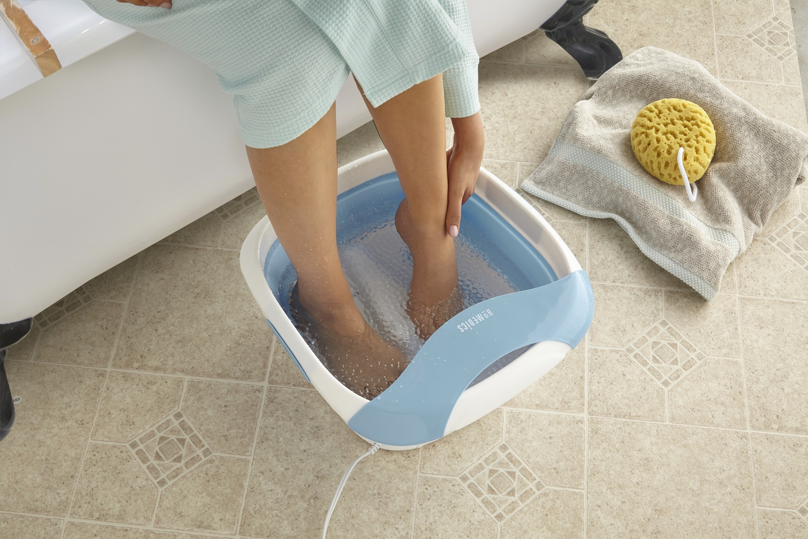 Homedics Foldaway Luxury Foot Spa Massage Bubble Foot