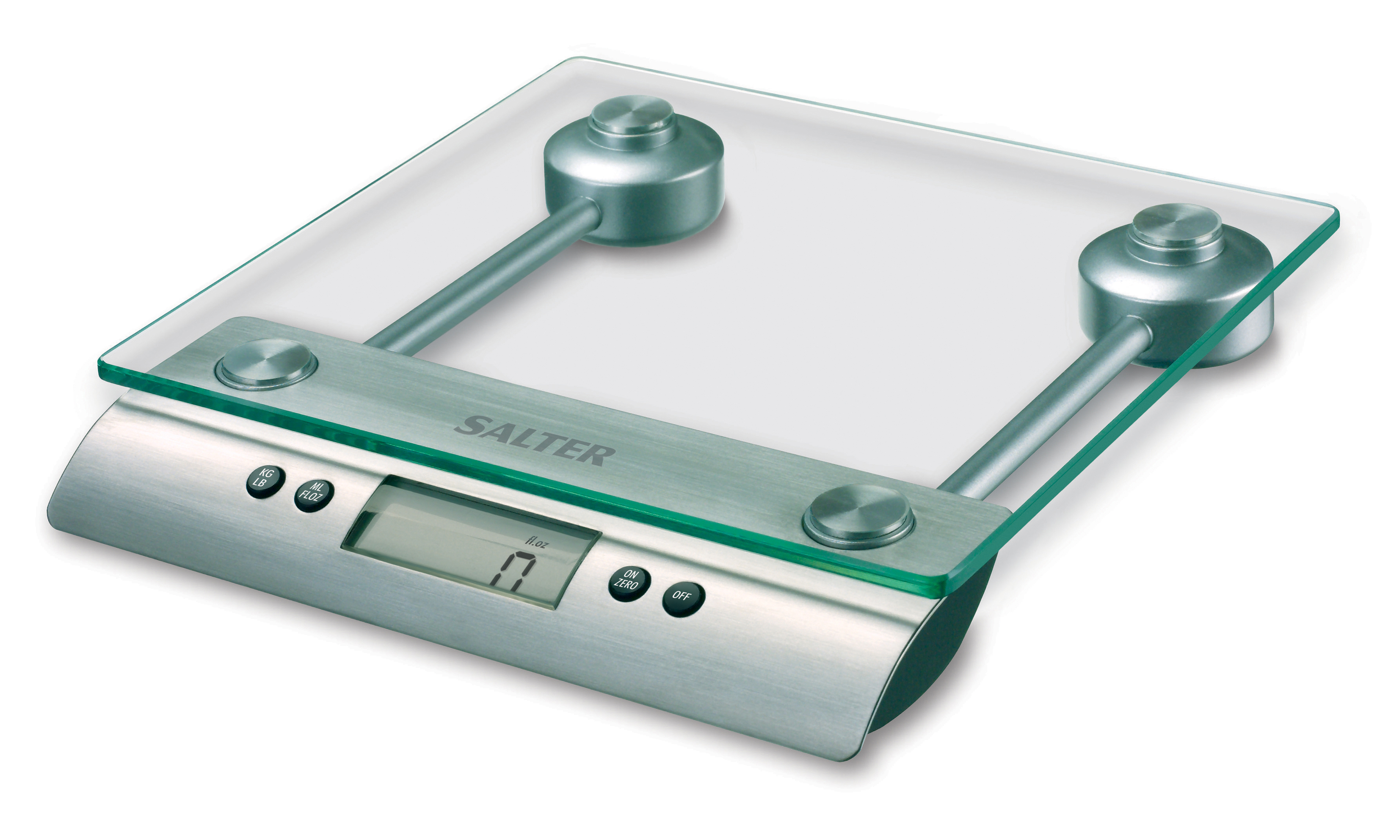 Salter Glass Digital Kitchen Scales 5kg Aquatronic + 15yr Guarantee ...