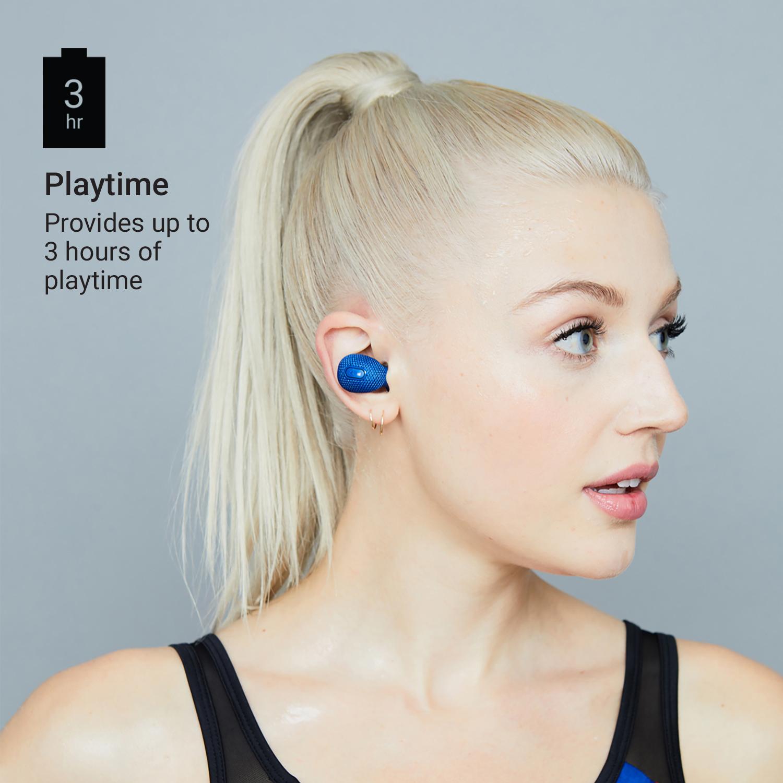 469b7bb3efb Jam Live True Wireless Earbuds TWS Bluetooth In-Ear Gym Earphones Bass Blue