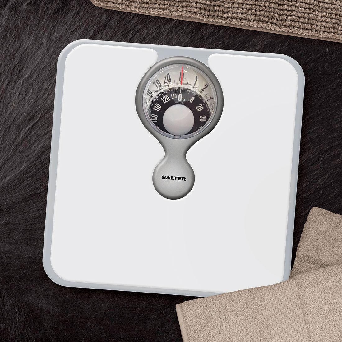 salter 484 magnified compact dial mechanical bathroom weighing scales - Bathroom Scales
