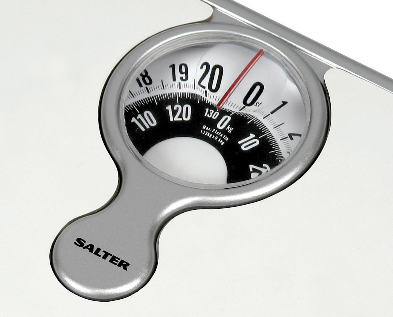 Sentinel Salter Compact Bathroom Scale   Mechanical Weight Scales   White    484 WHDR