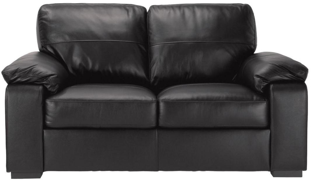 Ashmore Leather Sofa Bed Black Home The Honoroak