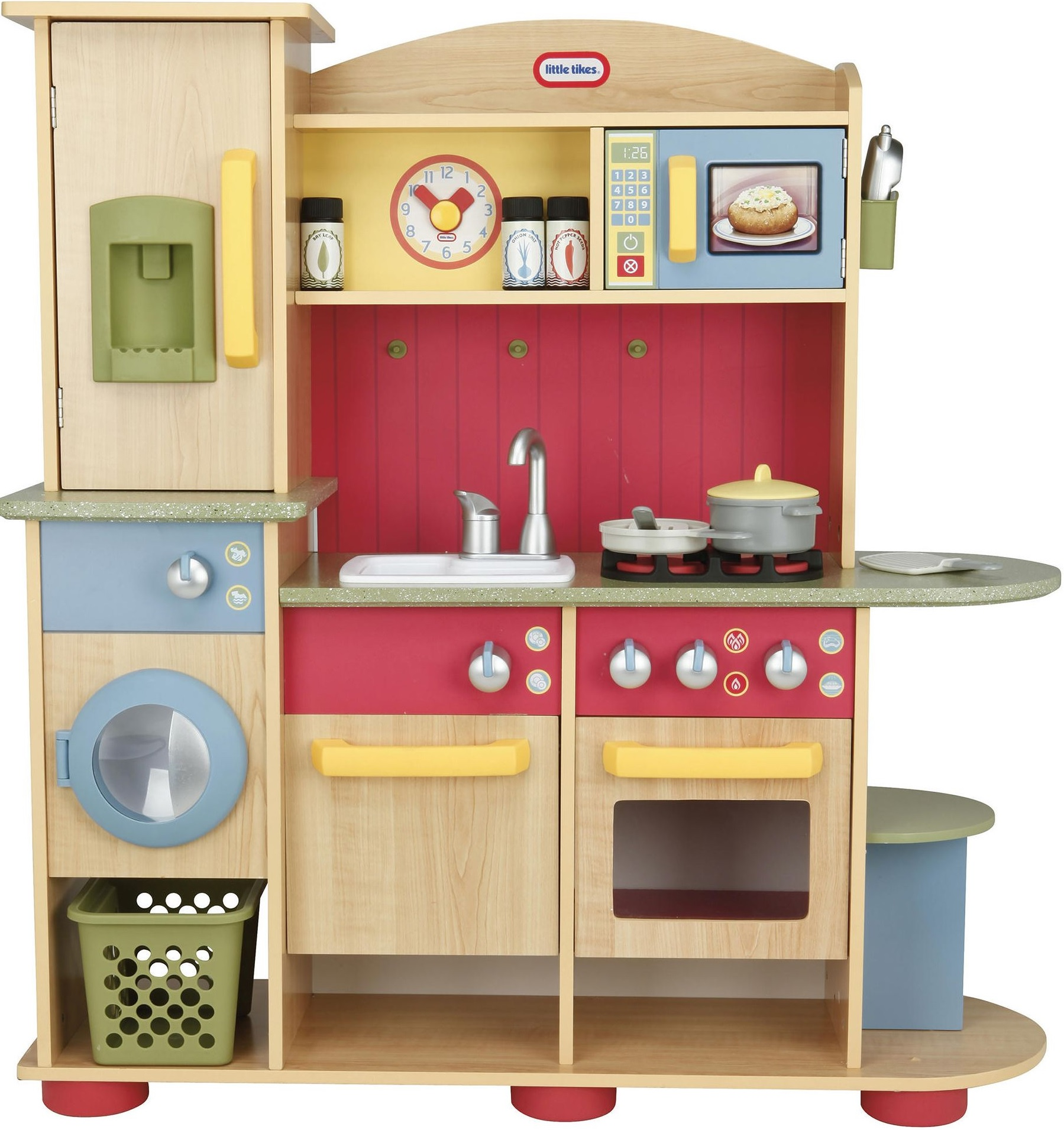 NEW Little Tikes Cooking Creations Premium Wooden Kitchen
