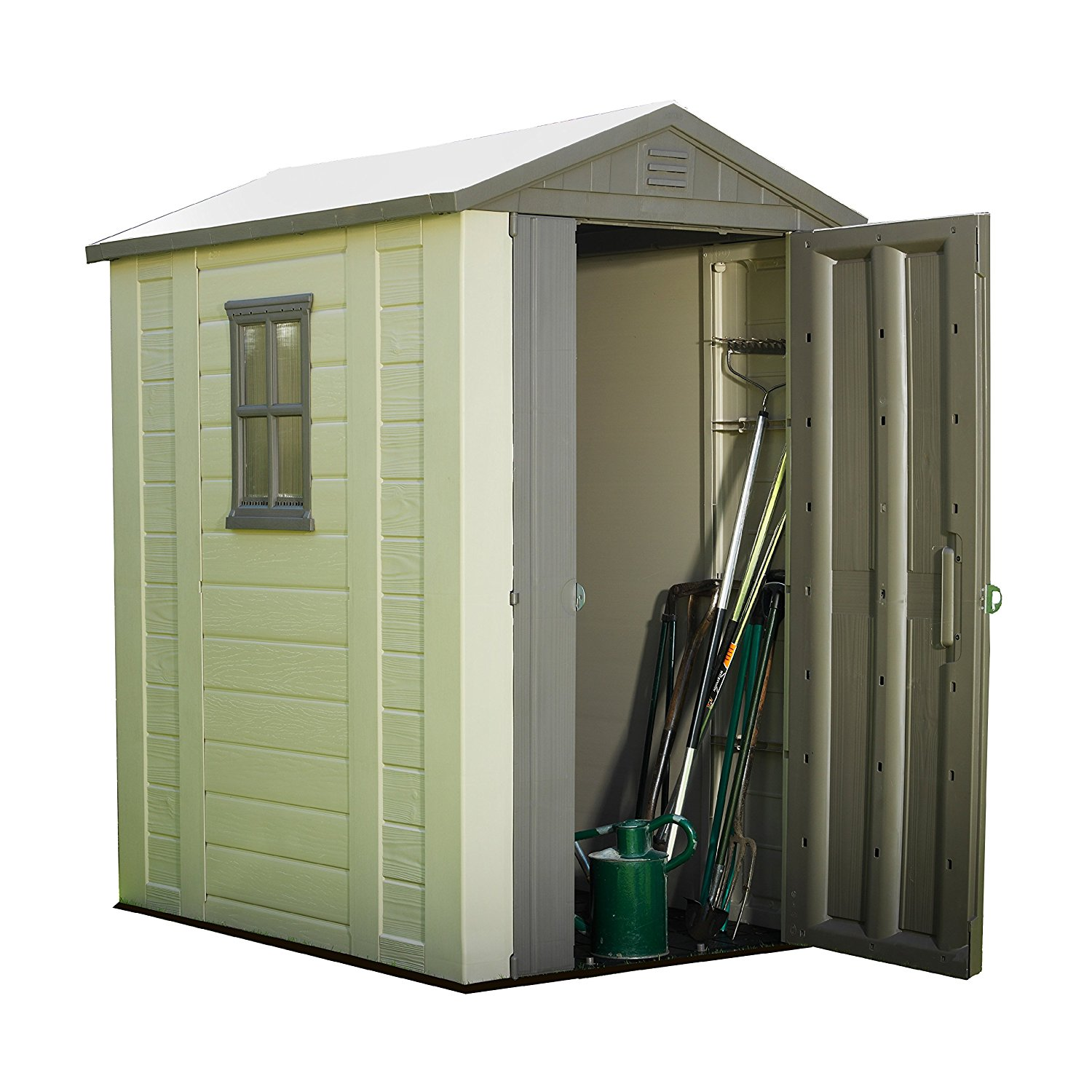 New Keter Factor Resin Outdoor Garden Storage Shed 4ft X