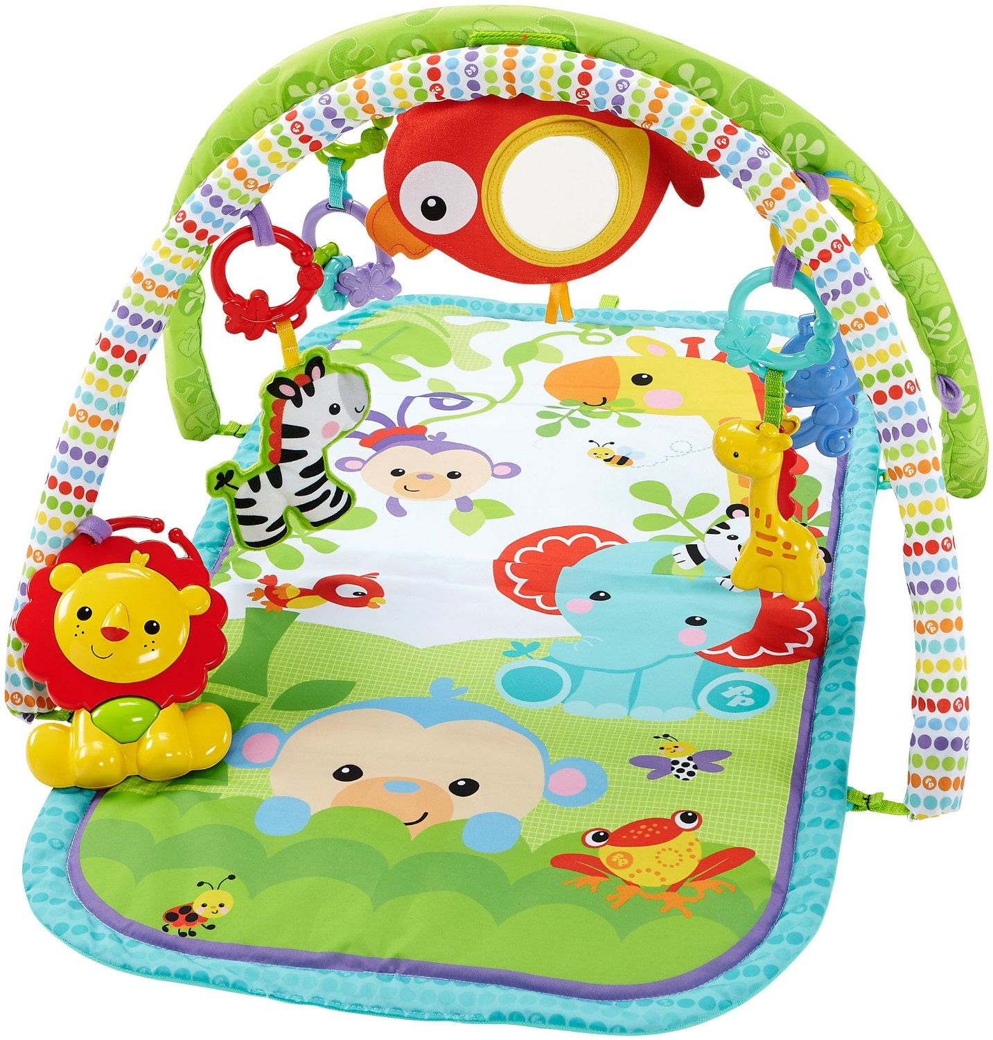 infantino pond gym twist and mat play activity fold pals itm
