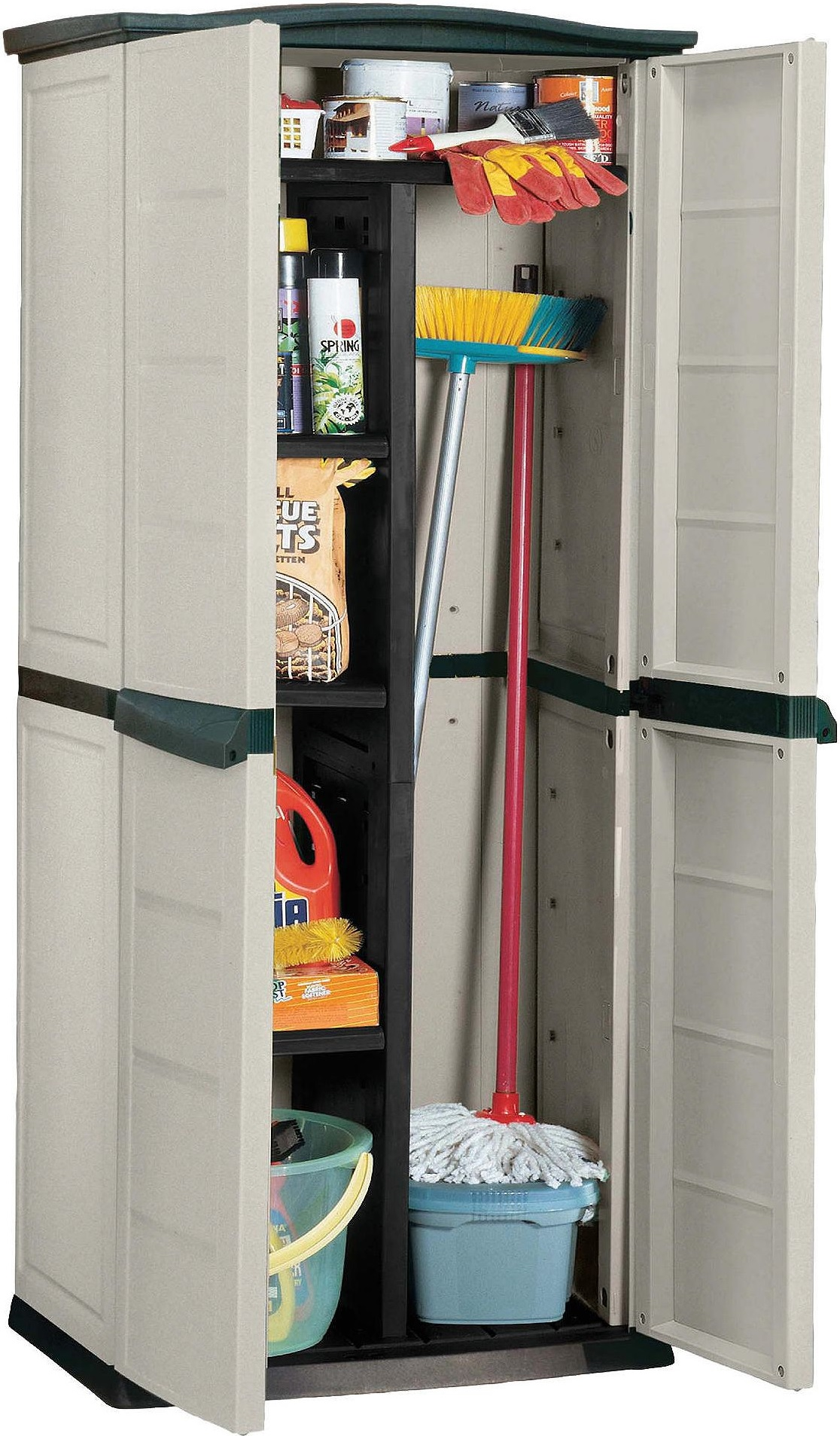 Keter Plastic Compact Garden Storage Shed Utility Cabinet