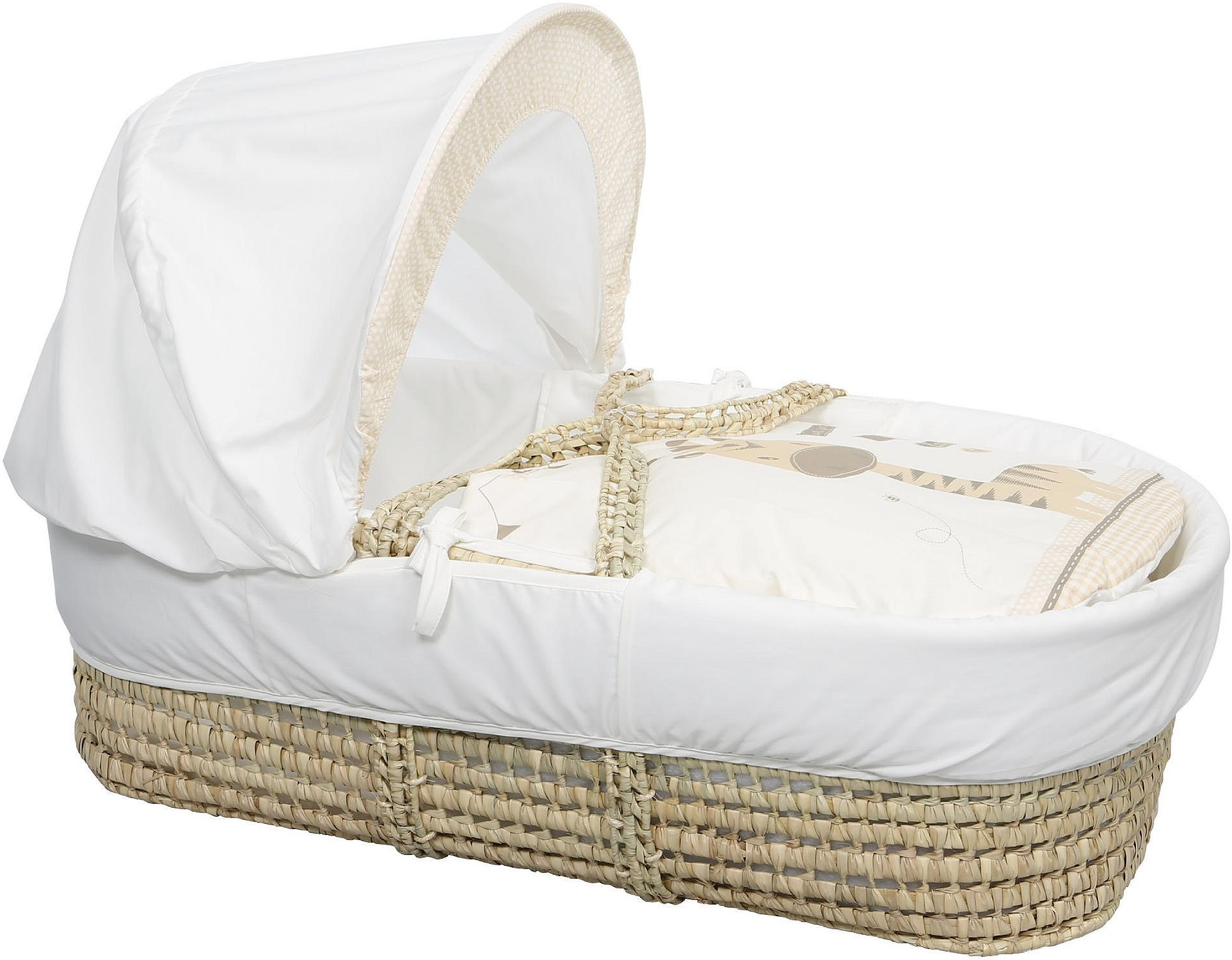 kinder valley zoo time moses basket with mattress and. Black Bedroom Furniture Sets. Home Design Ideas