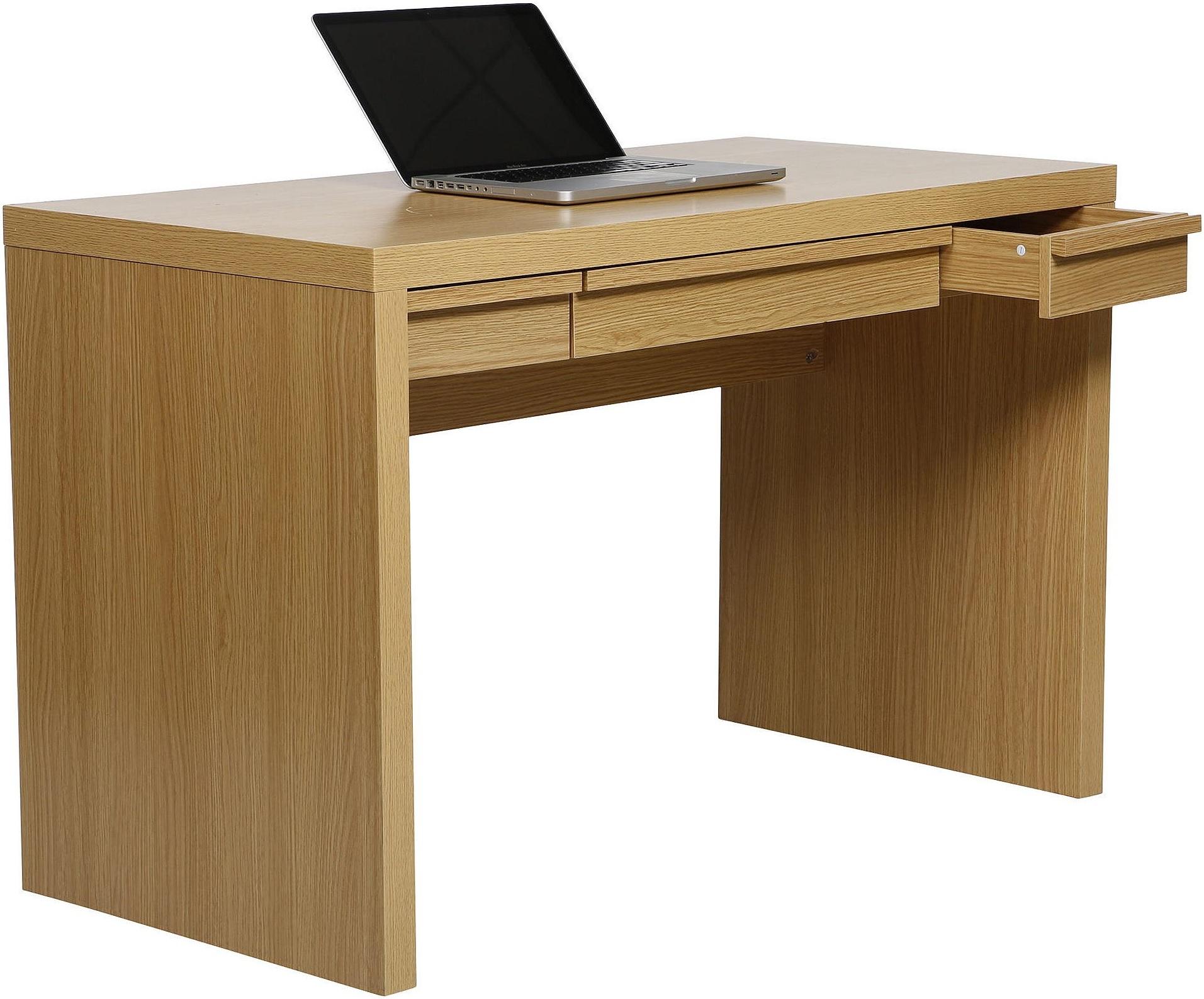 New Tesco Tribeca Computer Study Drawer Office Desk Oak Effect
