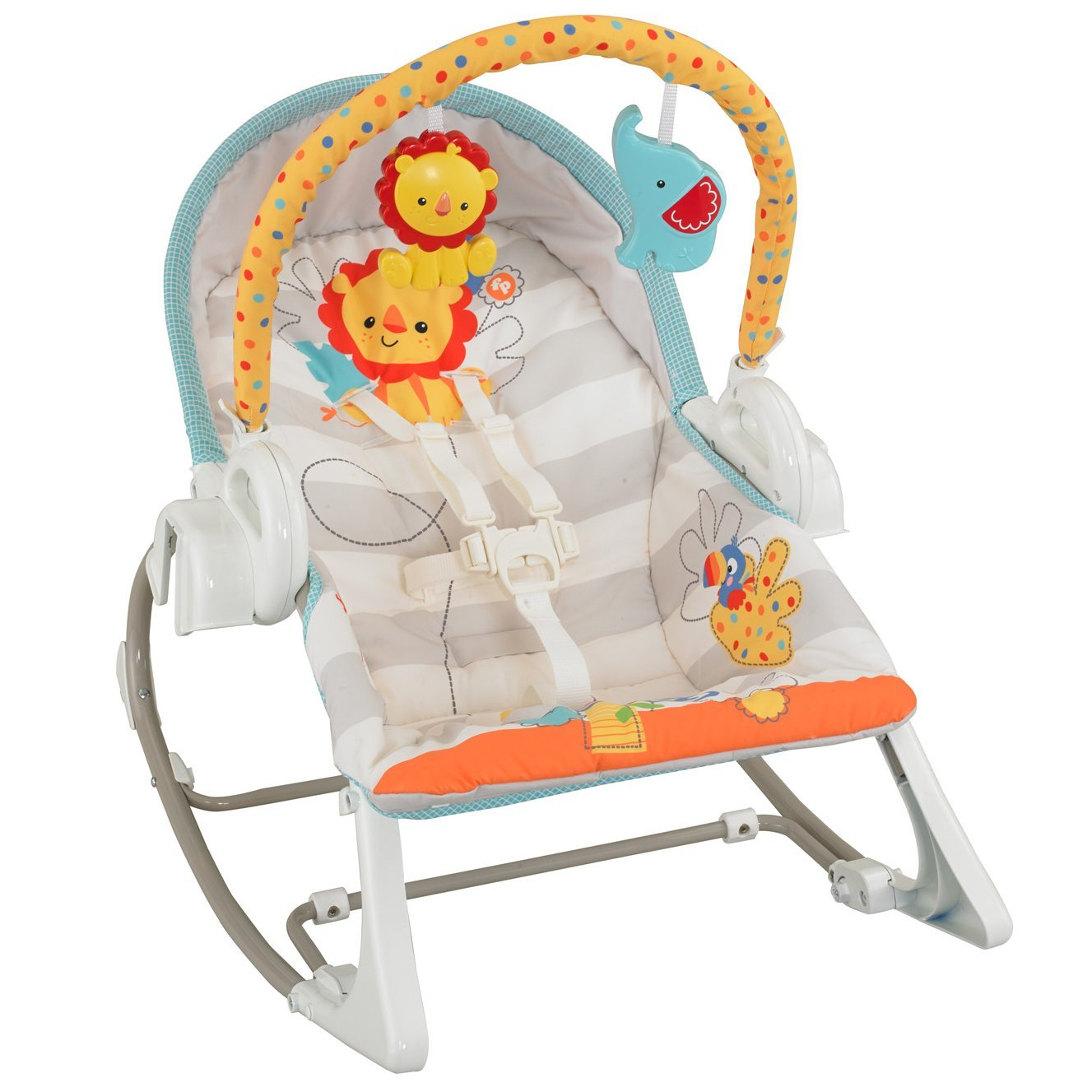Nuovo fisher price 3 in 1 swing n rocker musical bambino for Sedia a dondolo fisher price