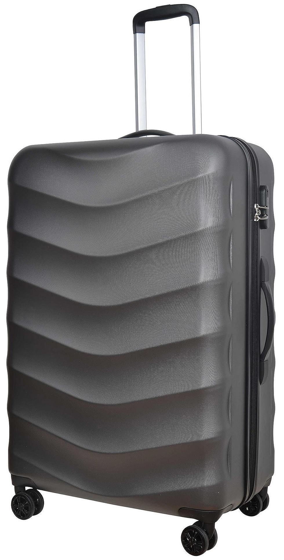 tesco champagne 8 wheel large hard shell 81l suitcase. Black Bedroom Furniture Sets. Home Design Ideas