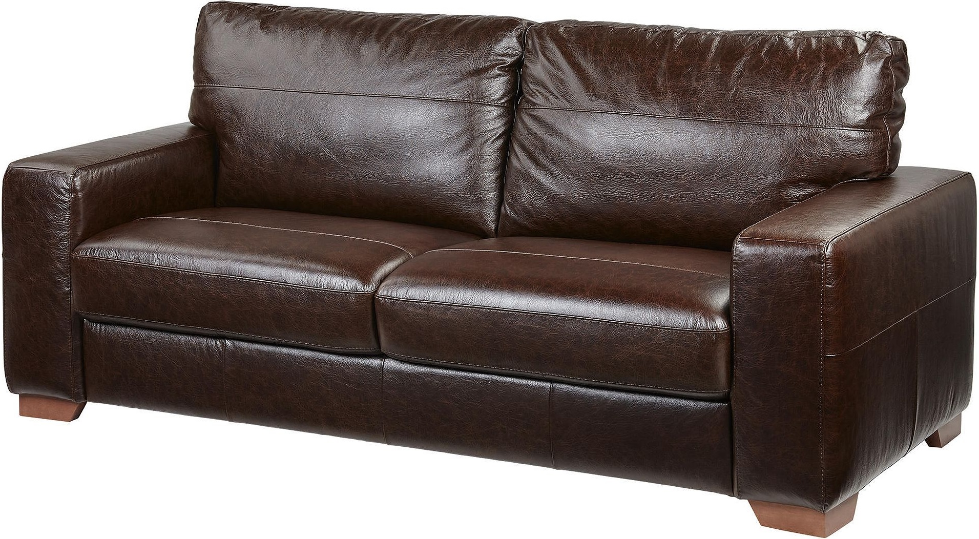 NEW Tesco Abbott 3 Seater Real Leather Sofa Chocolate