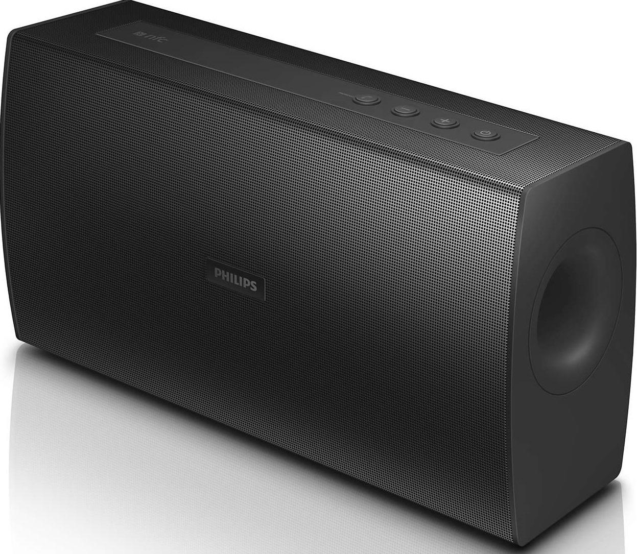 neu philips bt4000 bluetooth drahtlos netzbetrieben lautsprecher schwarz ebay. Black Bedroom Furniture Sets. Home Design Ideas