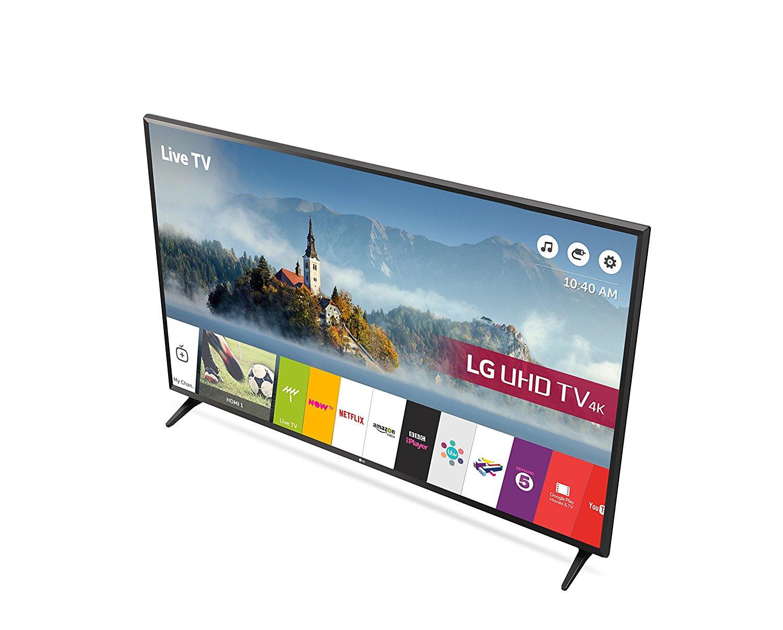 lg 49uj630 49 4k ultra hd smart led tv with freeview play black a ebay. Black Bedroom Furniture Sets. Home Design Ideas
