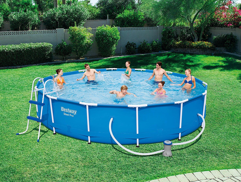 neu bestway 56598 stahlrahmen familie schwimmbad pool. Black Bedroom Furniture Sets. Home Design Ideas