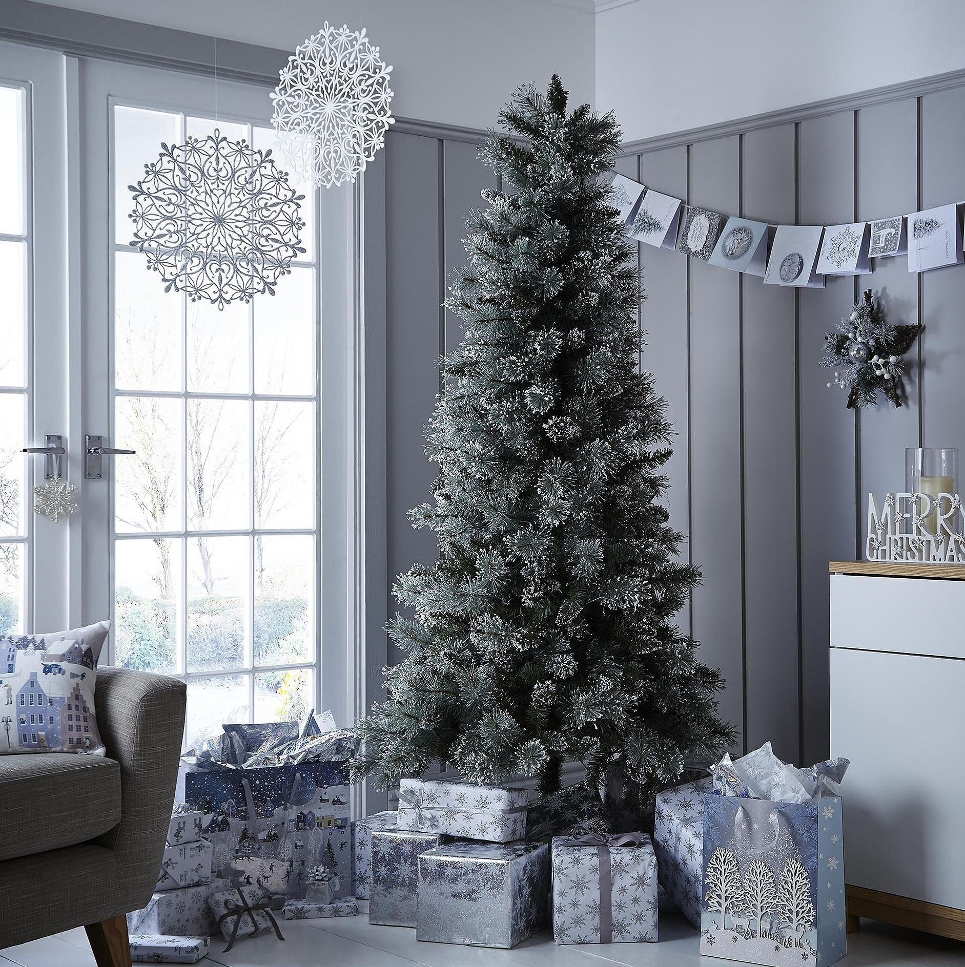 NEW Tesco Luxury 6.5ft Alpine Snow Artificial Christmas