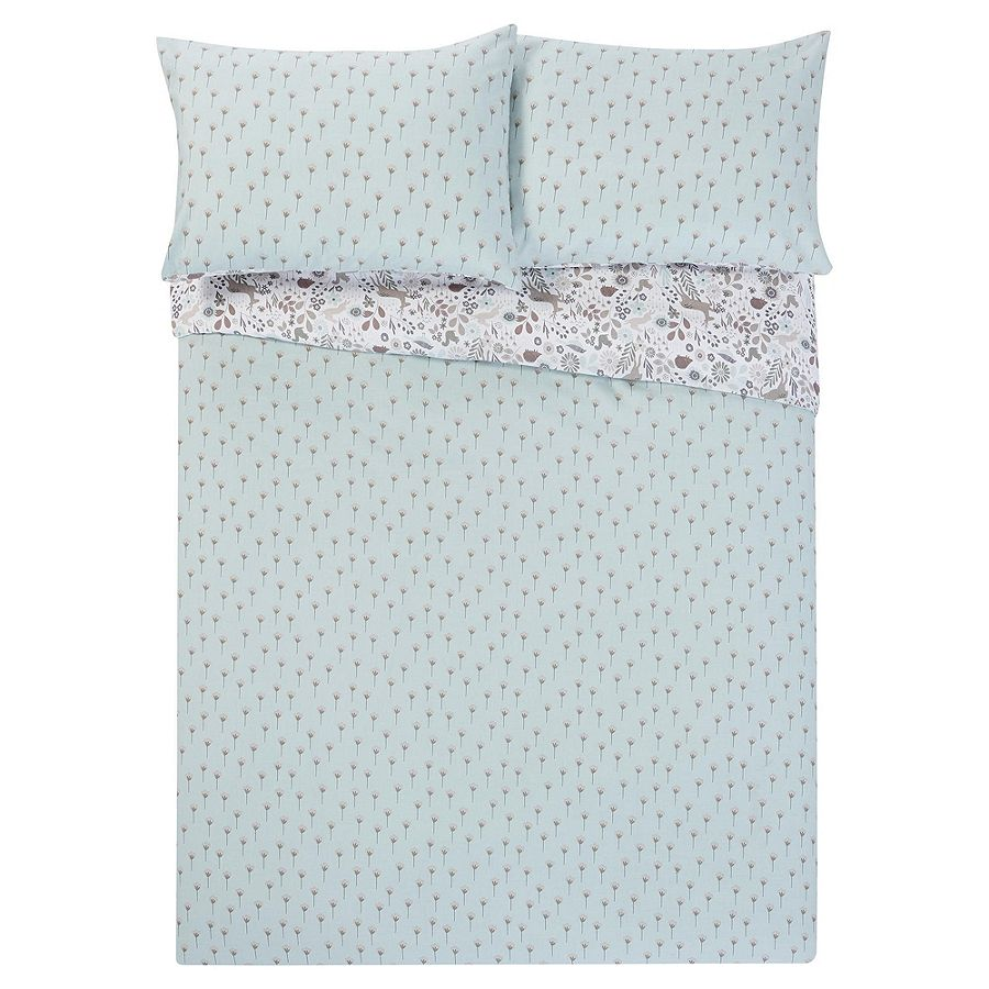 tesco jumping deer king duvet cover and 2 pillowcases set. Black Bedroom Furniture Sets. Home Design Ideas