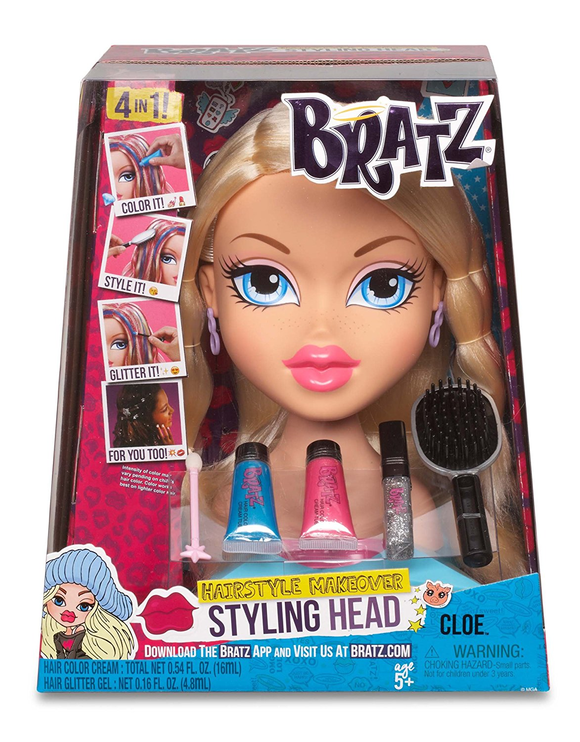 bratz hair styling new bratz styling doll cloe hairstyle makeover 3527