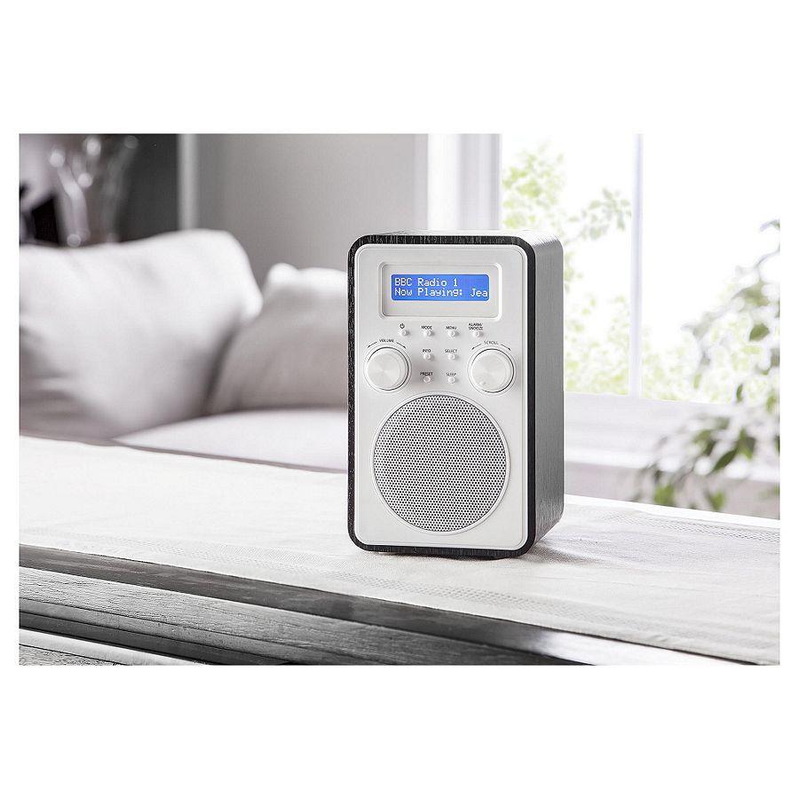 neu tesco dr1502b holz turm dab fm tragbar digital radio. Black Bedroom Furniture Sets. Home Design Ideas