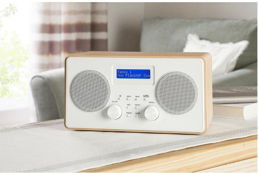 tesco holz stereo dab und fm tragbar digital radio. Black Bedroom Furniture Sets. Home Design Ideas