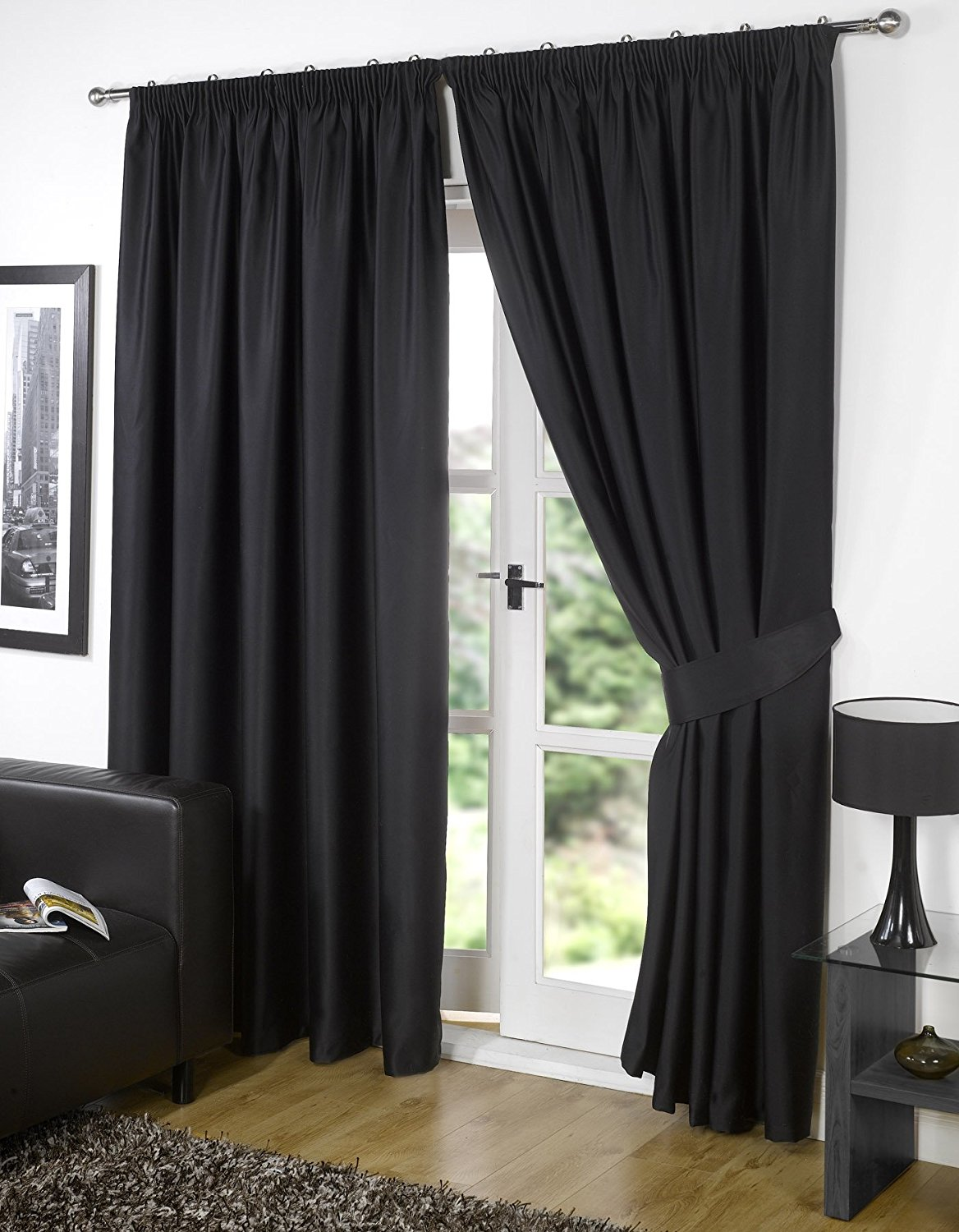 NEW Dreamscene Fully Lined Thermal Blackout Pencil Pleat Curtains