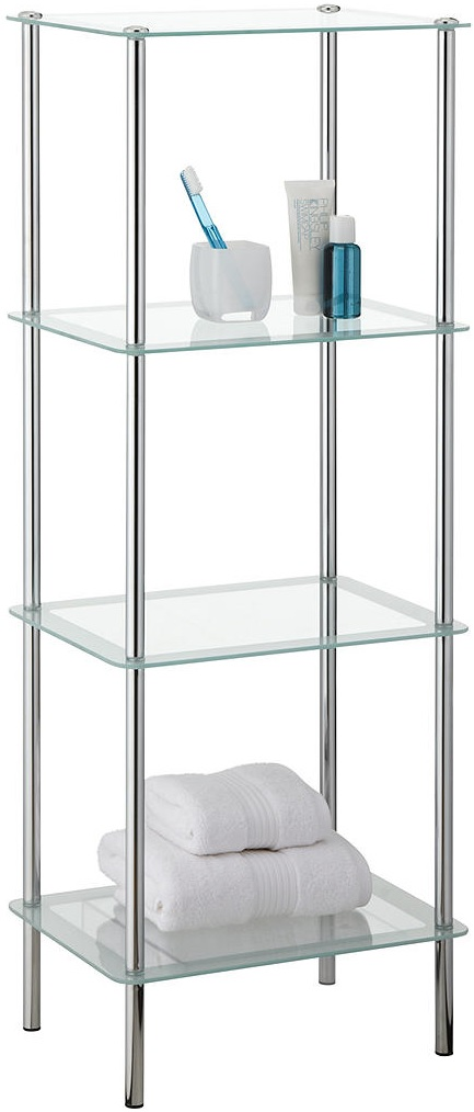 Fine Details About New John Lewis Shine Glass 4 Tier Bathroom Storage Shelf Unit Chrome Download Free Architecture Designs Griteanizatbritishbridgeorg
