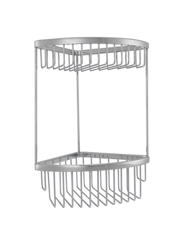 Tremendous Details About New John Lewis Small 2 Tier Corner Bathroom Storage Basket Chrome Silver Download Free Architecture Designs Griteanizatbritishbridgeorg