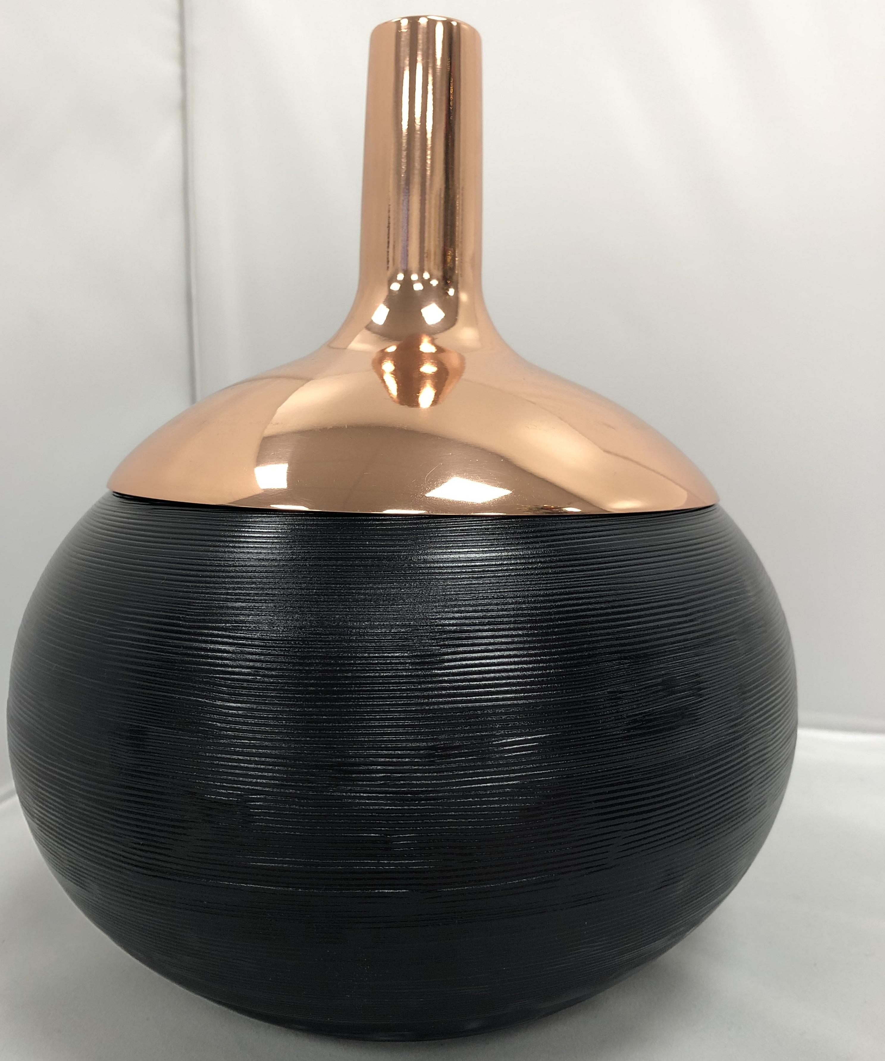 Glass /& Copper B+ Tom Dixon PMIB01 Plum Ice Bucket H36 x W21cm