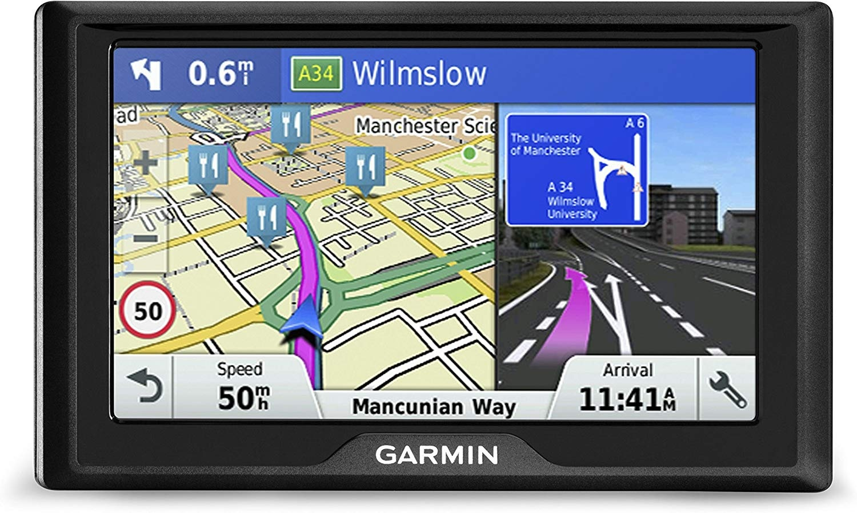 """Garmin drivesmart 50LM 5/"""" GPS SatNav │ Reino Unido y Europa actualizaciones de mapas de por vida │ Bluetooth"""