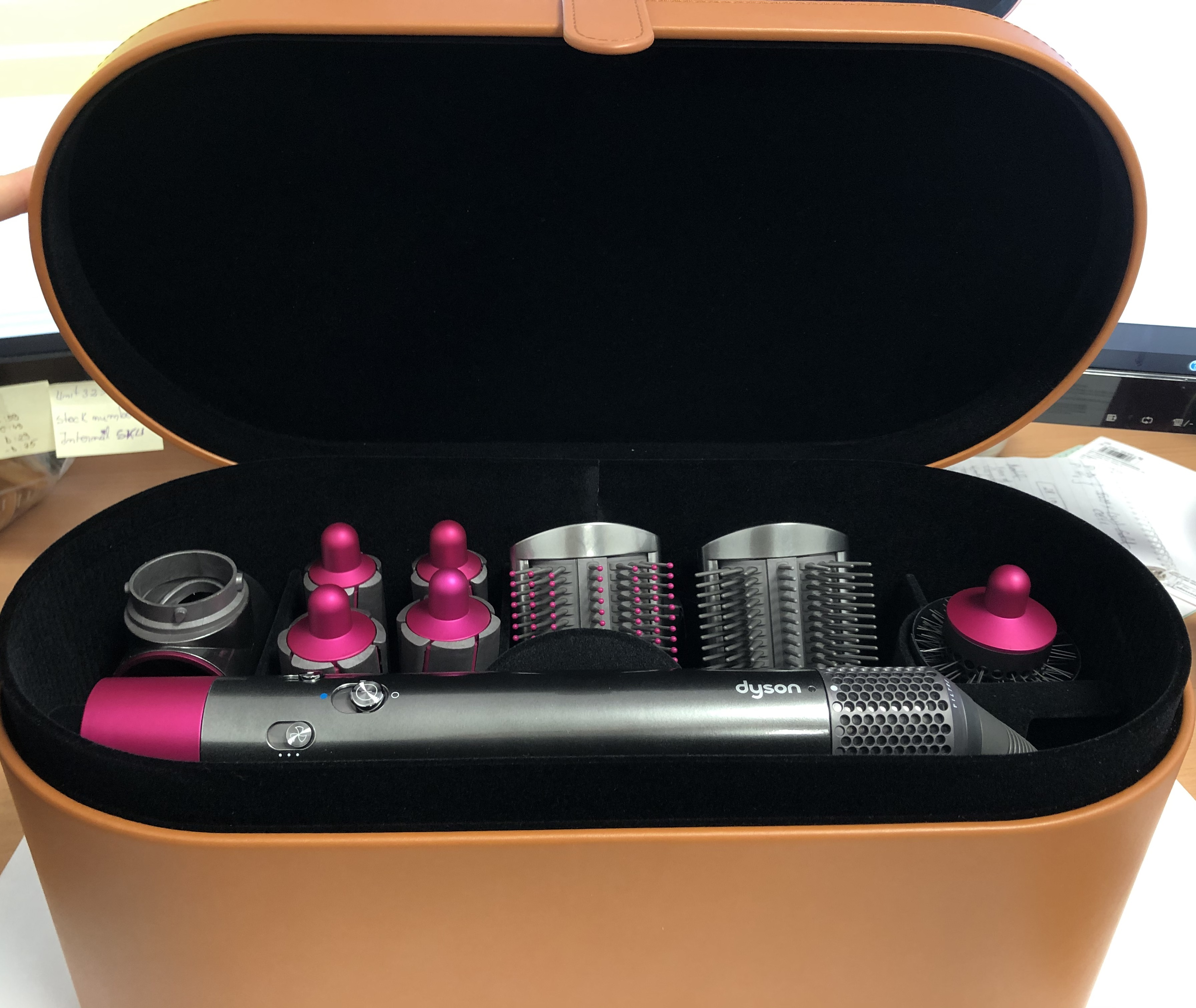 Dyson Airwrap Complete Multi Hair Styler 9 Accessory Set Nickel Fuschia B Ebay