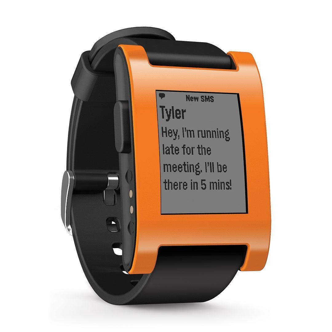 pebble e paper orange smartwatch sleek stylish design monitor fitness p or001 ebay. Black Bedroom Furniture Sets. Home Design Ideas