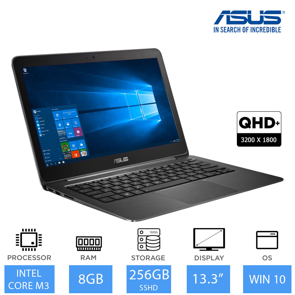 asus zenbook ux305ca 13 3 leichtgewicht ultrabook core m3 6y30 8gb ram 256gb ebay. Black Bedroom Furniture Sets. Home Design Ideas