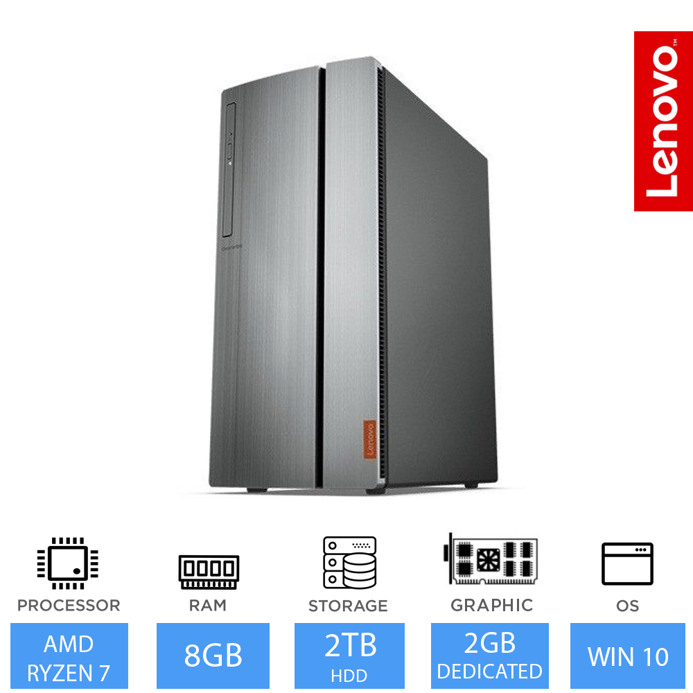 Details about Lenovo IdeaCentre 720 Best Gaming Desktop PC AMD Ryzen 7, 8GB  RAM 2TB HDD Win 10