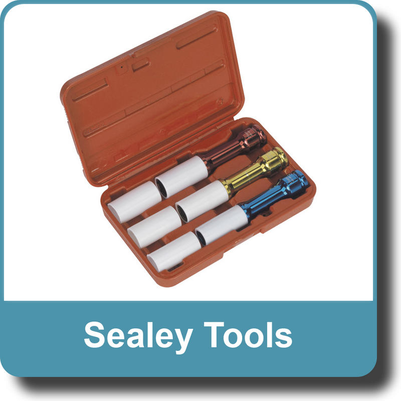 "Sealey Alloy Wheel Deep Impact Socket Set 3pc 1/2""Sq Drive SX031D"