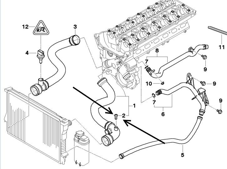 Bmw E46 3 Series Radiator Top Hose Vent Screw Meyle Manufactd