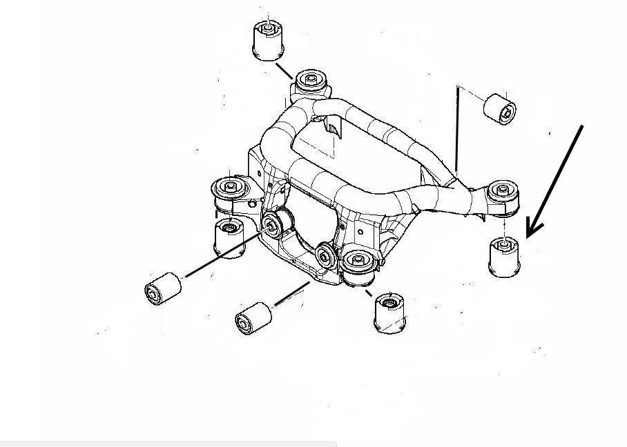 Rear Axle Rubber Mount Bmw E46 3 Series X3 Z4 Meyle Bmw Oe