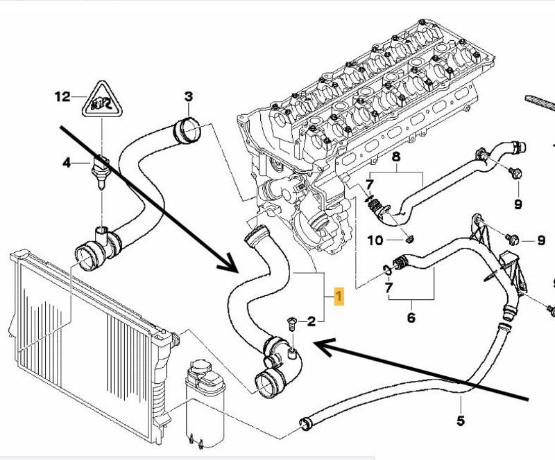 bmw 318i e46 cooling system diagram