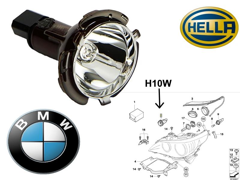 bmw e60 e61 07 front angel eyes bulb and holder hella oe. Black Bedroom Furniture Sets. Home Design Ideas