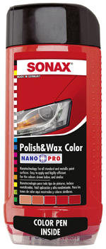 Sonax 296400 Red Polish & Wax Color NanoPro 500ml