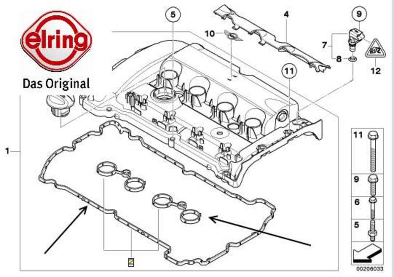 Mini R56 R55 R57 Cooper S Jcw N14 Engine Rocker Cover Gasket