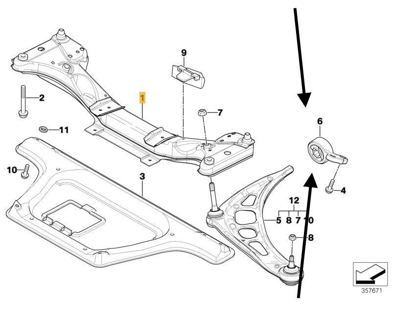 Track Control Arm Wishbone Bush Kit Bmw E46 3 Series Lemforder