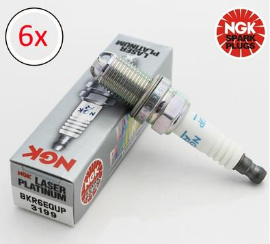 NGK Spark Plugs BKR6EQUP 3199 x6 Fits BMW E46 320i  - 330i  12120037607 Preview