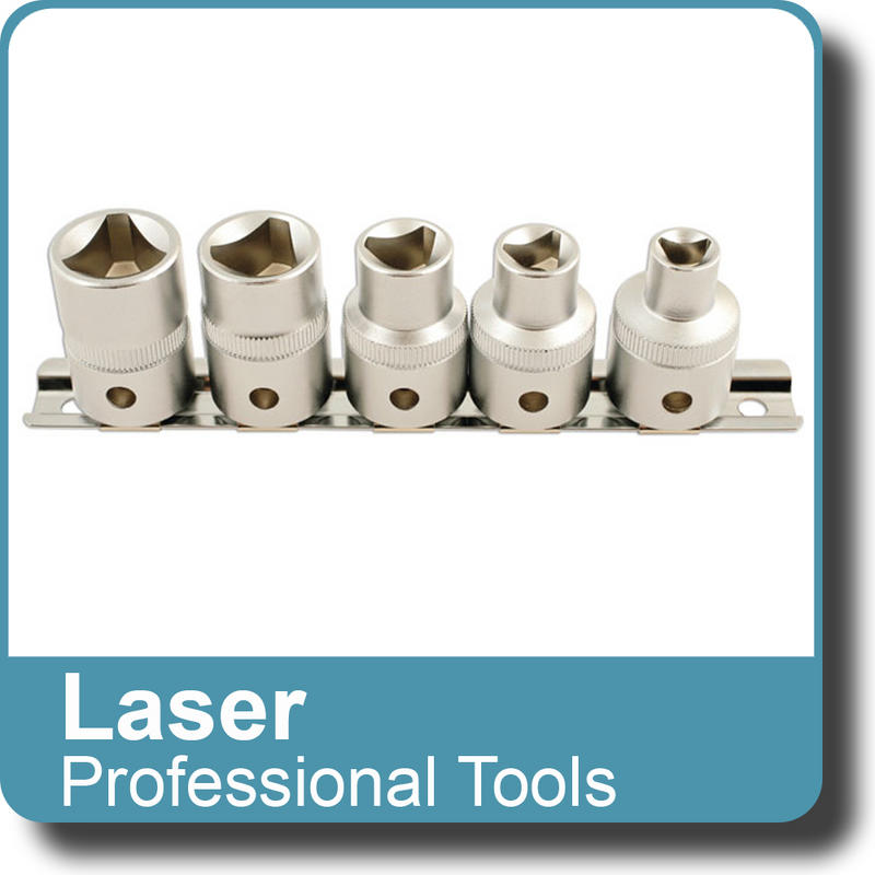 "NEW Genuine LASER - Triangular Socket Set 1/2""D 5pc 5683"